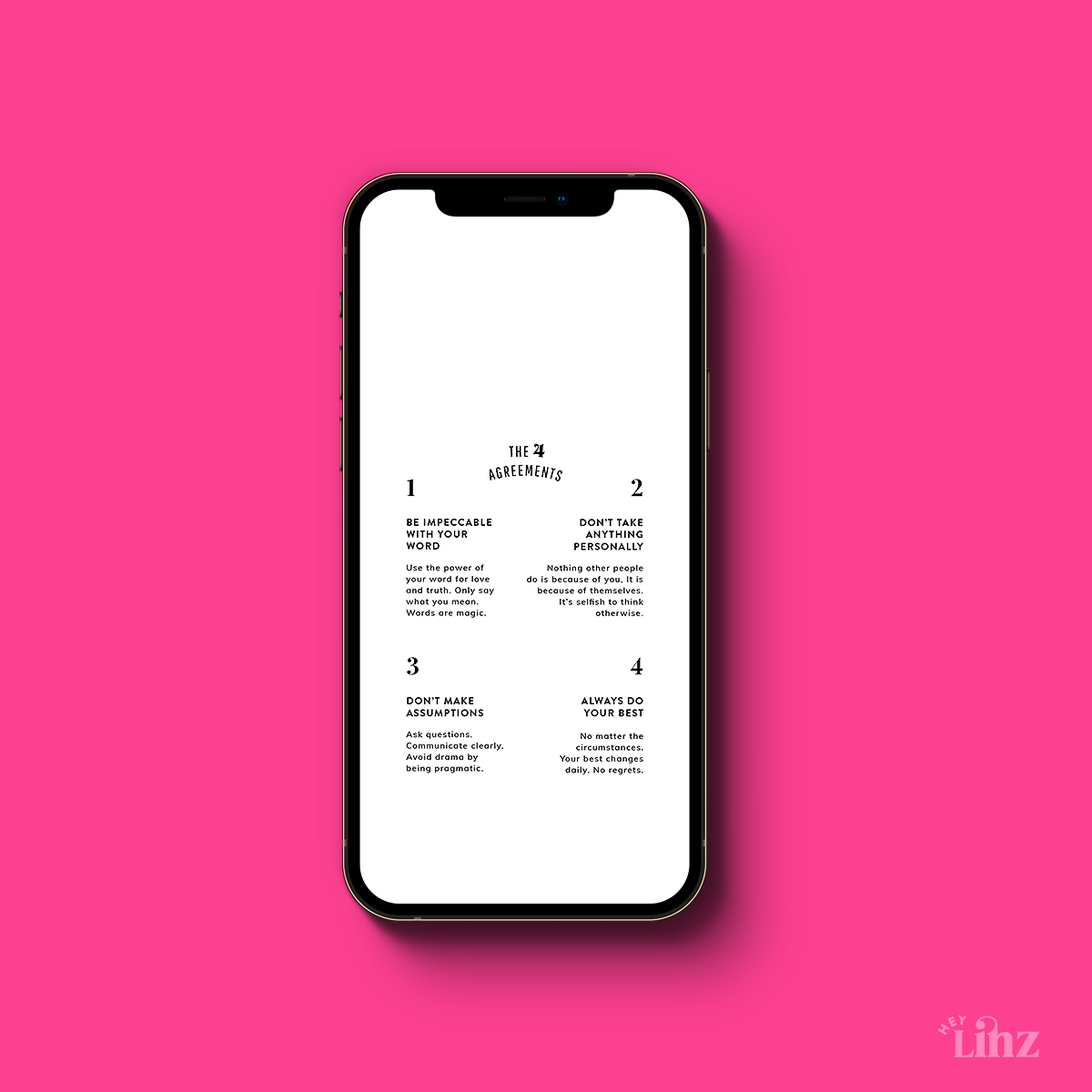 Four Agreements Phone Wallpaper and Lockscreen